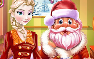 Elsa and Santa Christmas Cleaning Frozen Games