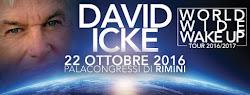 DAVID ICKE IN TOUR IN ITALIA, OTTOBRE 2016