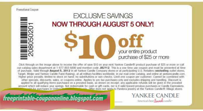 Yankee candle printable coupons blogspot