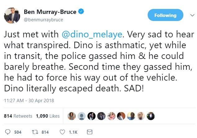 Police Gassed Asthmatic Dino Melaye - Senator Ben Murray-Bruce Reveals After Hospital Visit