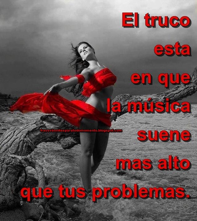 El truco esta en que la música suene mas alto que tus problemas.