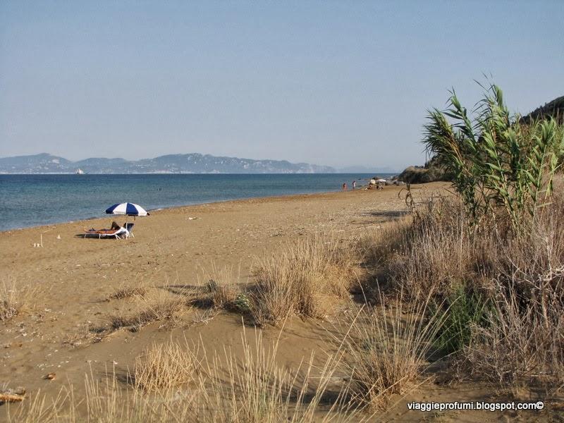 La spiaggia di Portelo, a Mathraki, isole Diapontie