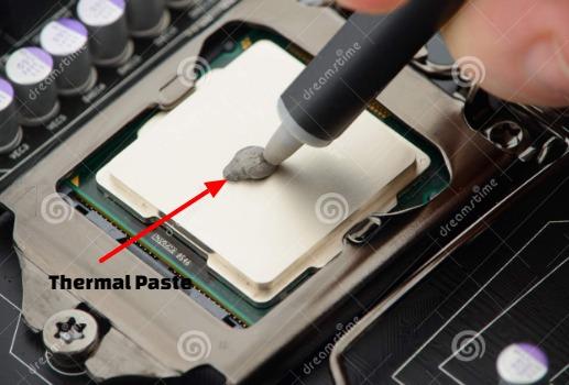 penyebab laptop cepat panas karena thermal paste kering