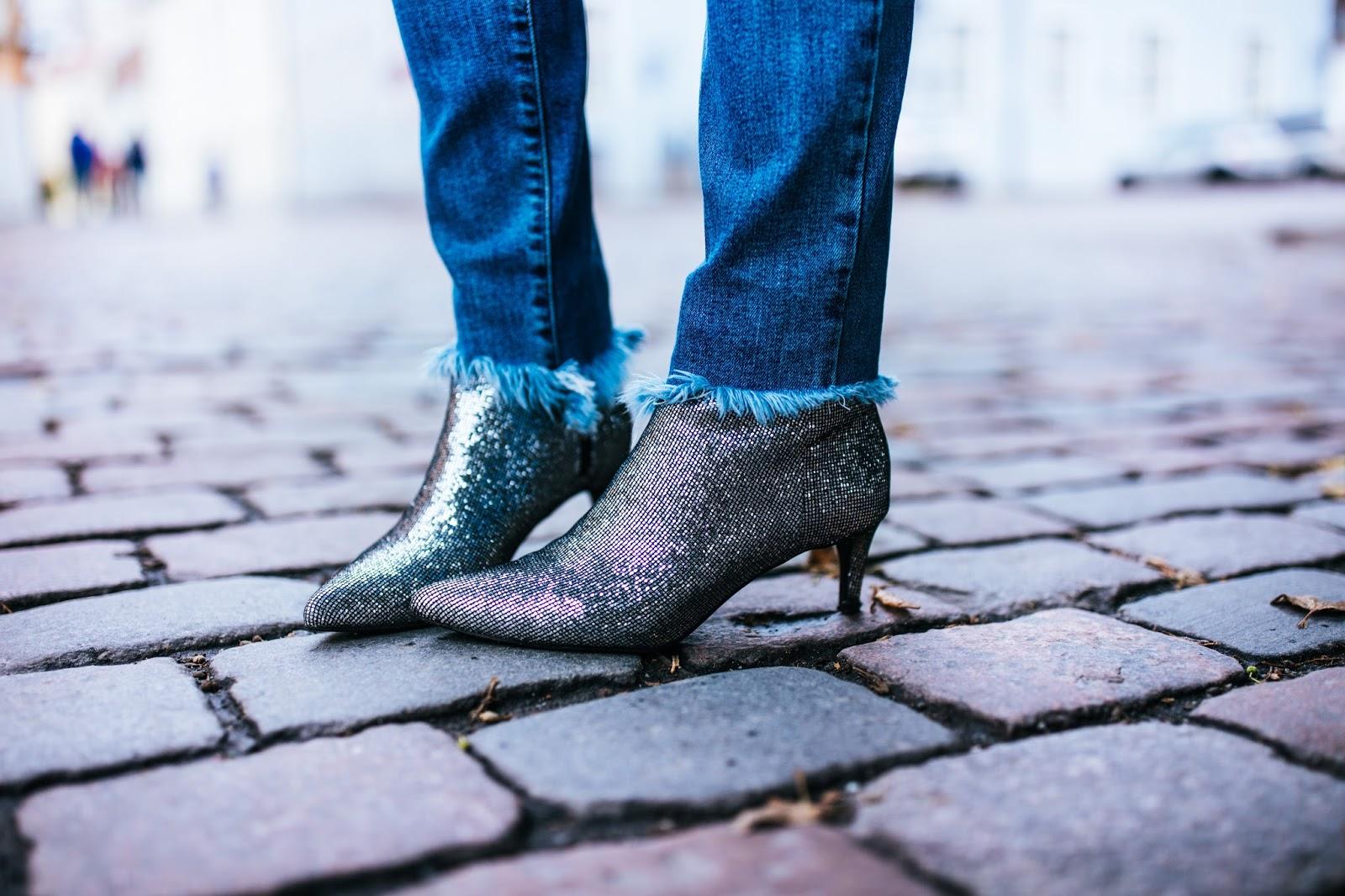 hm glitter boots kitten heel