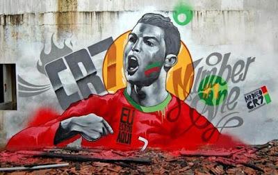 Graffiti Cristiano Ronaldo