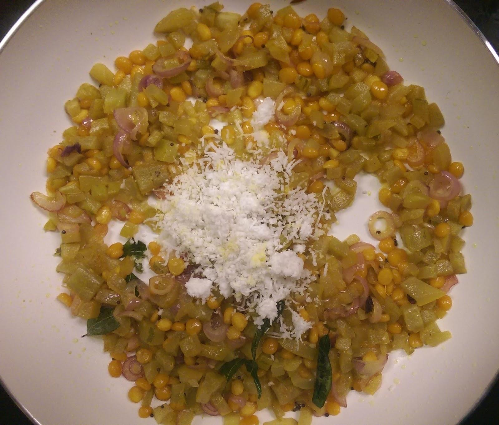 Snake gourd stir fry/Pudalangai poriyal - All Recipes Hub