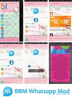 BBM Whatsapp Hello Kitty versi v2.11.0.16 Apk
