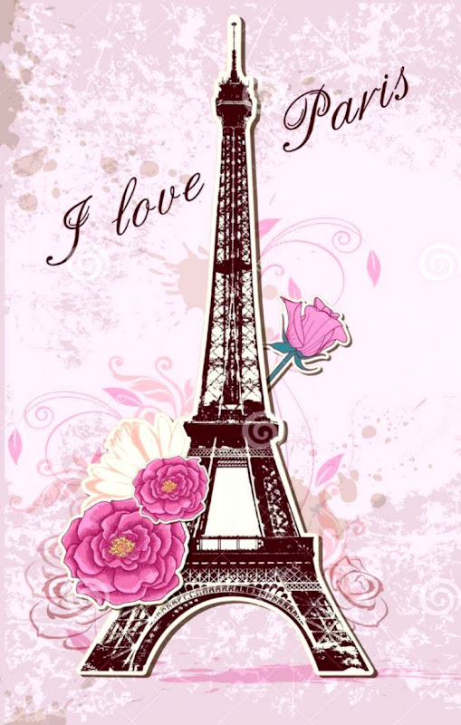 Background Pink Eiffel Tower Wallpaper Hd