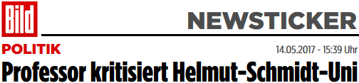 Professor kritisiert Helmut-Schmidt-Uni