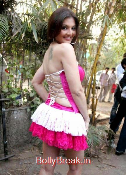 hot bolywood actress stills, Actress Deepshikha hot Pics in Pink Backless Dress