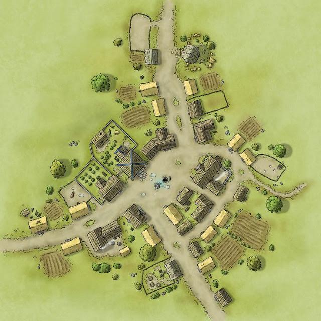 Você pode usar um destes mapas para ser um local onde os personagens deram uma pausa durante uma viagem.