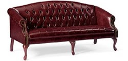 Traditional Queen Anne Sofa