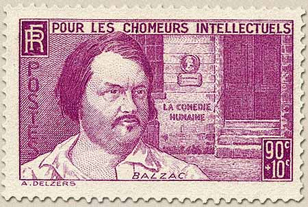 Resultado de imagem para selo de Honoré de Balzac