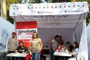 Pruebatón realiza pruebas de Sida gratuitas en Xalapa