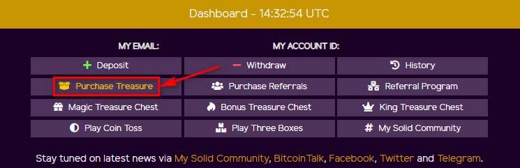 Создание депозита в MySolidCoin