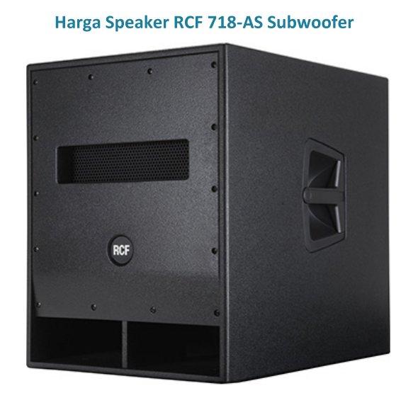 Harga Speaker RCF 718-AS Subwoofer 18 Inchi