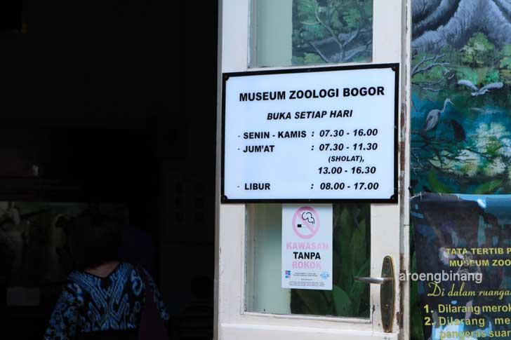 jam buka museum zoologi bogor