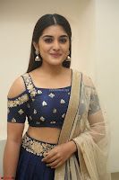 Niveda Thomas in Lovely Blue Cold Shoulder Ghagra Choli Transparent Chunni ~  Exclusive Celebrities Galleries 060.JPG