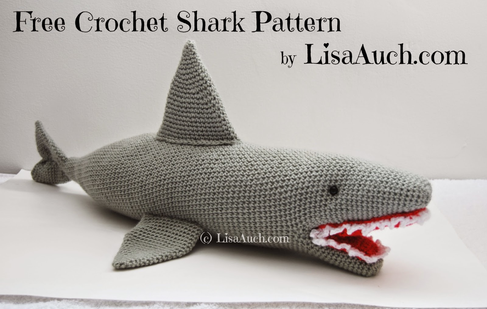 free crochet shark pattern, crochet , shark , pattern