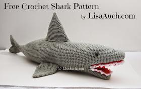 free crochet shark pattern, crochet , shark , pattern