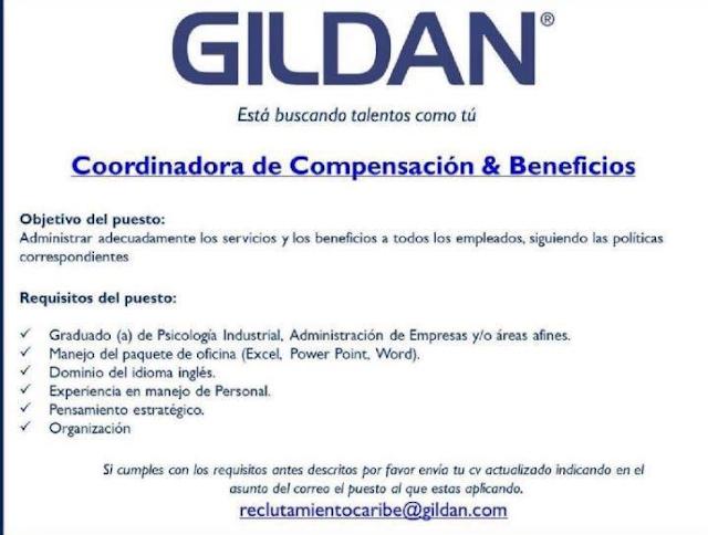 Vacante Para Coordinadora En Gildan Ayuda Empleos Rd