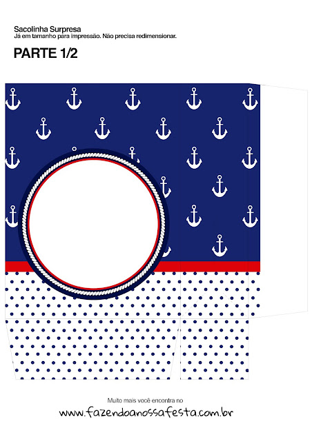 Nautical Party: Free Printable Boxes.