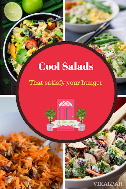 Turn off the oven and serve up these cool salads that satisfy! Plus link up at Home Matters with recipes, DIY, crafts, decor. #Salads #HomeMattersParty