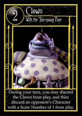 Nightmare Before Christmas Clown With A Tear Away Face.A Card For The Day Clown With The Tear Away Face The