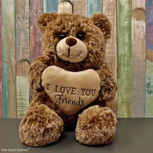 cute teddy good morning wishes