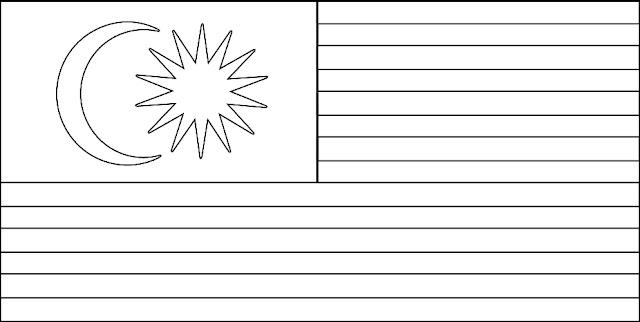 Lukisan Bendera Malaysia Tanpa Warna Cikimm Com