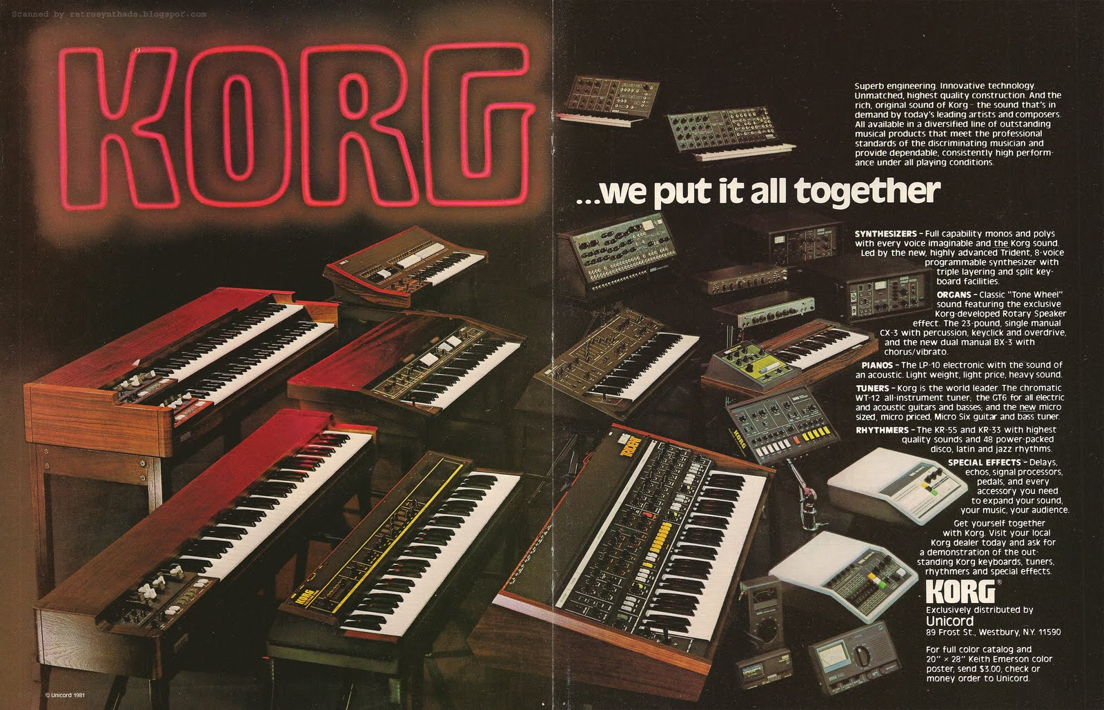 MATRIXSYNTH: 1982 KORG Family of Products Ad
