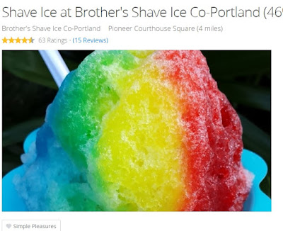 Groupon Portland deals shaved ice
