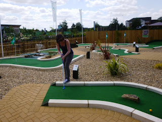 Emily Gottfried playing the Peterborough Minigolf course this year. Another great design by UrbanCrazy