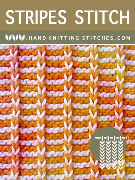 Multicolor Pattern - Stripes Slip Stitch Knitting