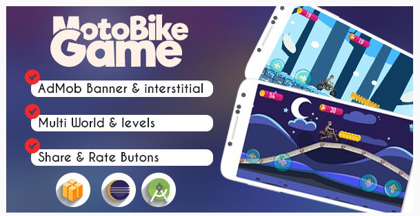 Source Code Game Android Racing Motor Bike | Buildbox & Eclipse Support by Admob
