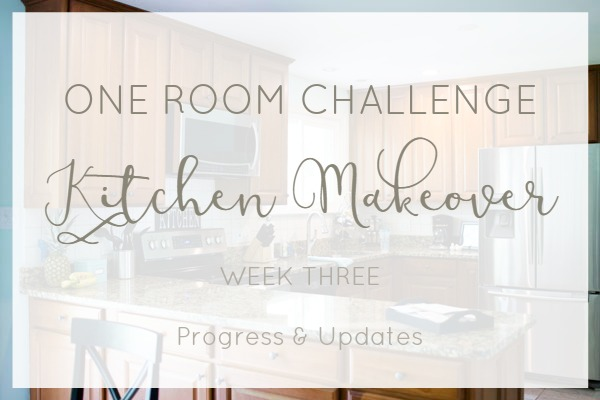 One room challenge kitchen makeover progress