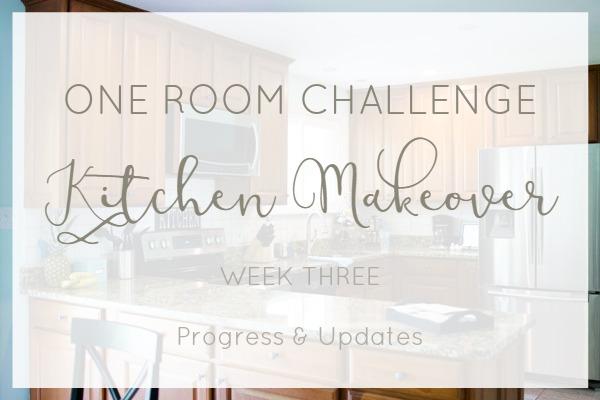 One room challenge kitchen makeover progress