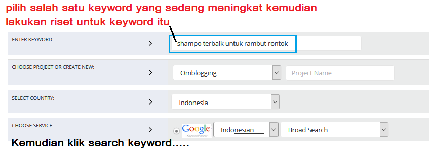 Riset Keyword Menggunakan Wordze