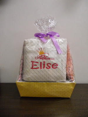 Hamper gift with customised items for babies (by That Corner Shop)