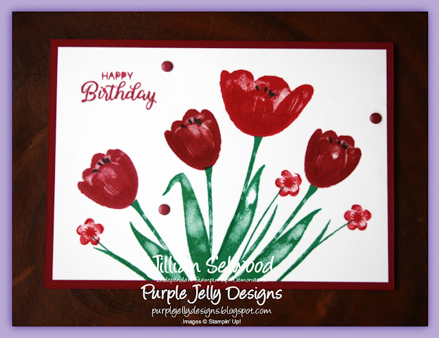 Tranquil Tulips, Real Red, Cherry Cobbler, Emerald Envy