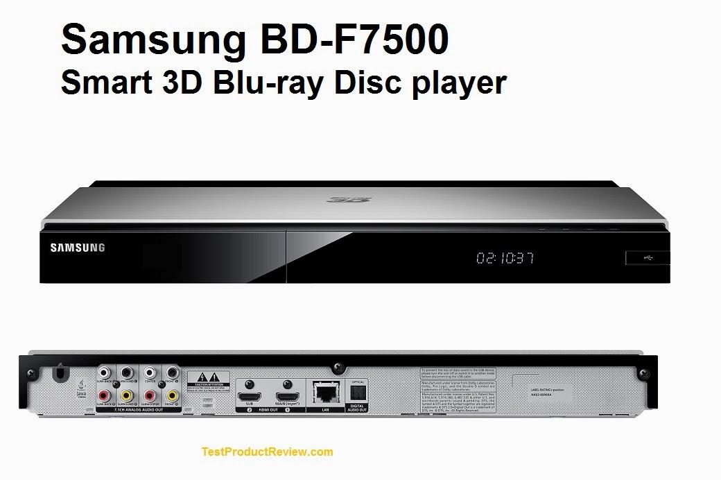Samsung BD-F7500 Smart 3D Blu-ray Disc player