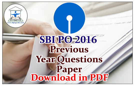 Previous Solved Papers Of Sbi Po Pdf