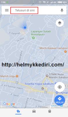 Cara menggunakan google maps pengendara motor
