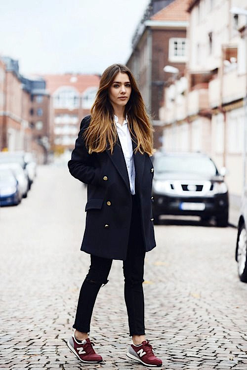 New Balance sneakers, how to wear sneakers in winter