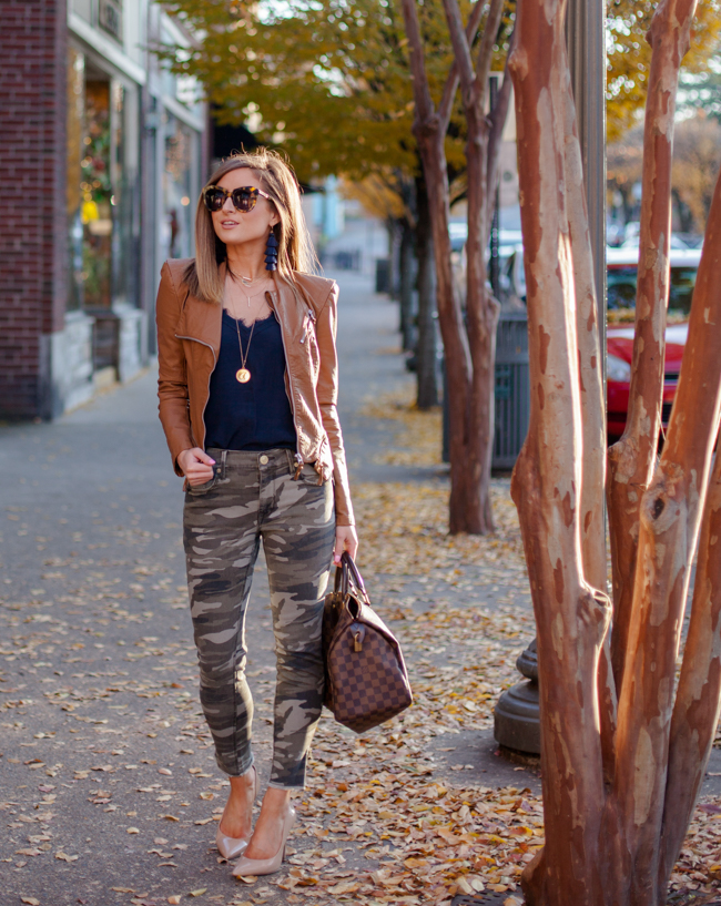 express camo stretch ankle leggings