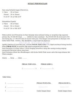 Surat Pernyataan Hutang Piutang