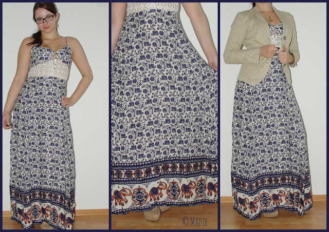 Outfit Floral Maxi Dress with elephants & lace