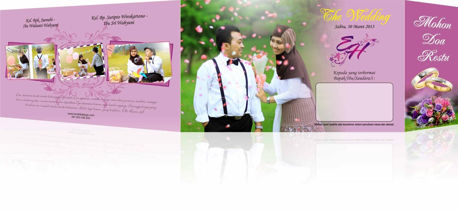 Design x banner pernikahan - Desain Dan Percetakan Undangan Pernikahan Termurah Di Solo Contoh