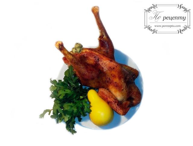 запеченная курица с начинкой