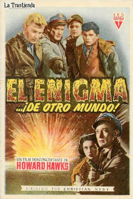 El Enigma de otro Mundo - Programa de Cine - Kenneth Tobey - Margaret Sheridan